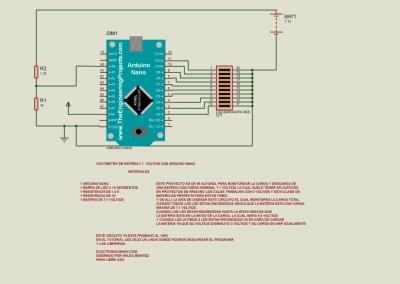 medidor bateria 7.1 voltios con arduino