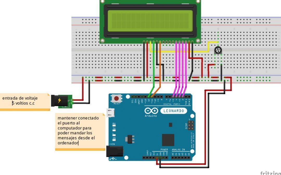 comunicación serial con arduino y display