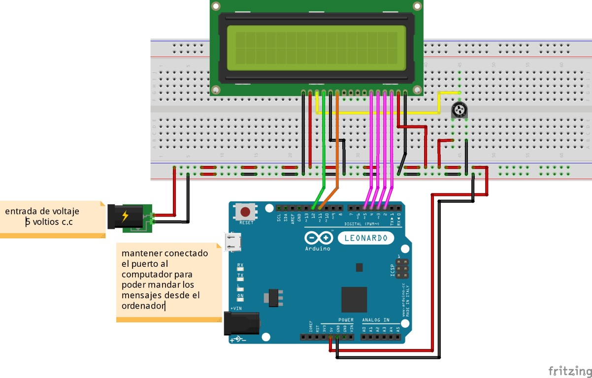 comunicación serial con arduino y display