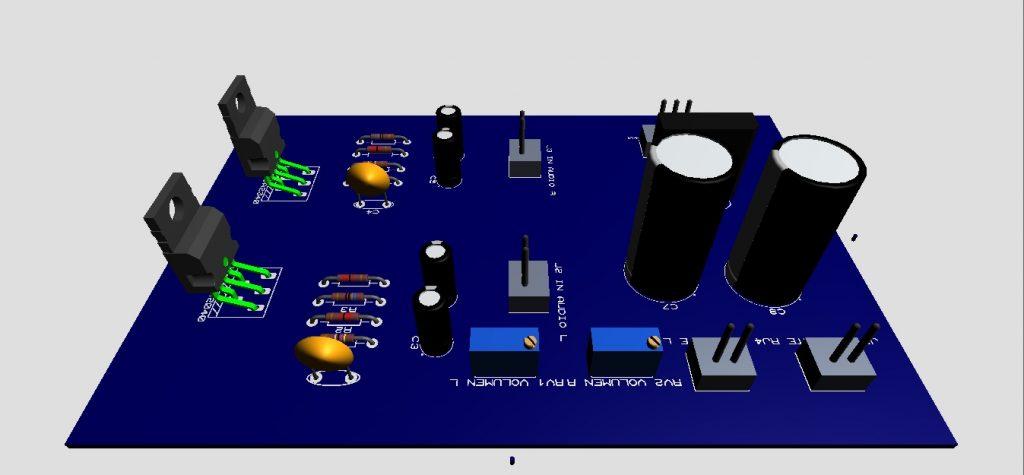 amplificador lado de componentes