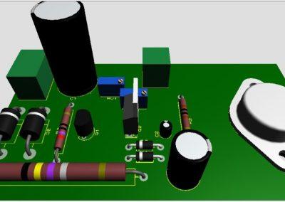 circuito con los componentes