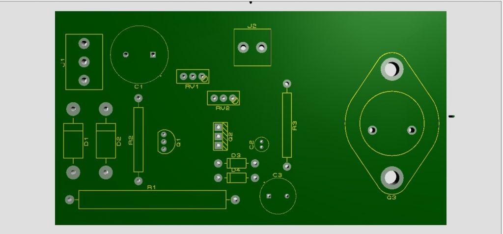 circuito lado de los componentes