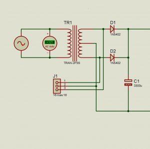circuito rectificador de voltaje
