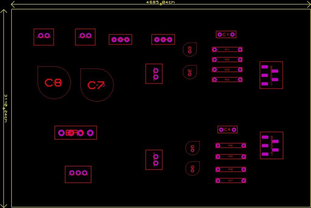 lado componentes circuito amplificador
