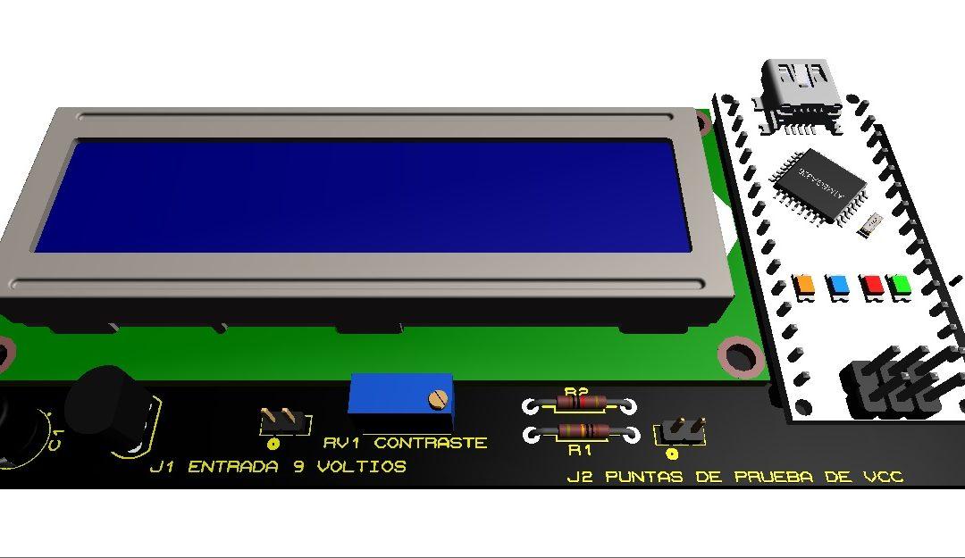 Voltímetro de corriente continua con arduino nano.