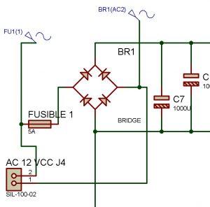 Fuente regulada de 3 voltajes