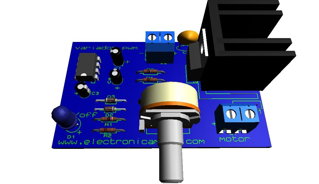 Control pwm para motor de 12 voltios