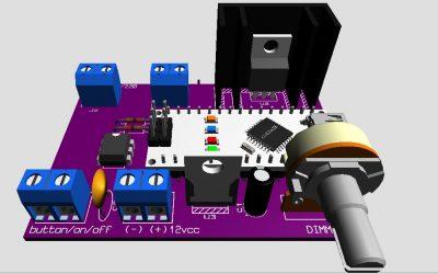 Dimmer controlador de luz de potencia version 2
