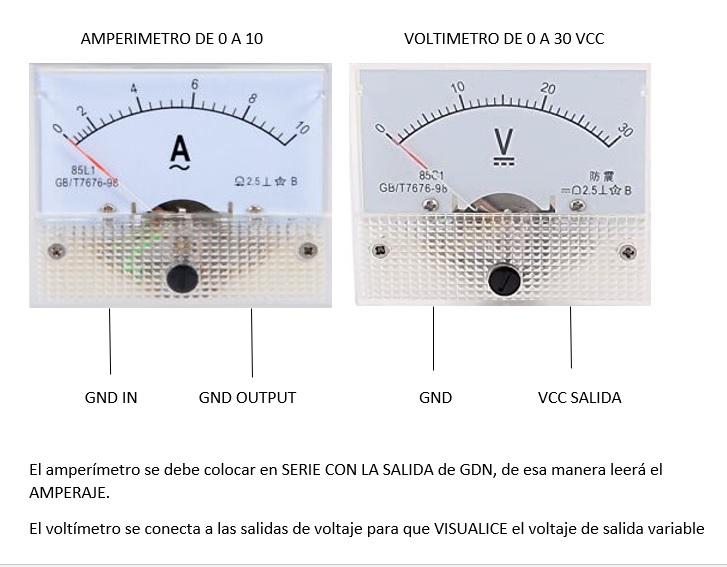 Fuente de laboratorio de 0 a 30 vcc