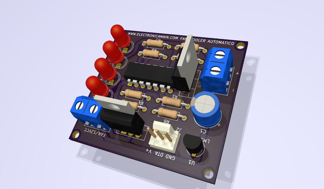 Modulo Fan Cooler automático con LM324 y LM35