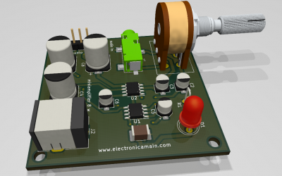 Mini amplificador de audio con ic Lm386